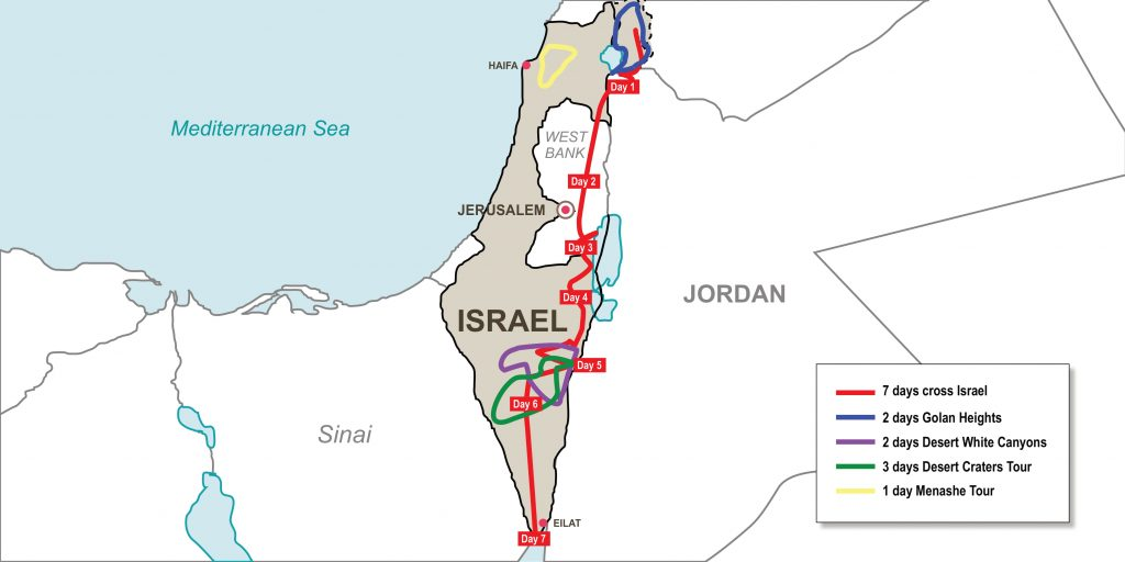 Enduro hiking through the Holy Land of Israel