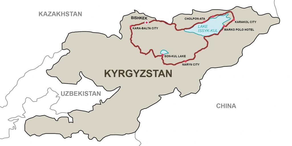 """12 days motorcycle tour in Kyrgyzstan – """"In the footsteps of the nomads"""""""